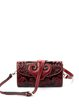 Zipper Small Embossed Cowhide Leather Retro Crossbody