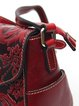 Zipper Small Embossed Cowhide Leather Retro Satchel