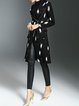 Black Statement Shift Lapel Abstract Coat