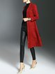 Burgundy Long Sleeve Shift Jacquard Coat