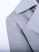 Gray Plain Elegant Wool Lapel Coat