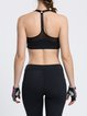 Black Breathable Stretchy Wicking Sports Bra