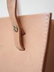 Neutrals Open-top Solid Cowhide Leather Retro Tote