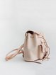 Neutrals Cowhide Leather Drawstring Bucket Backpack