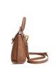 Brown Retro Cowhide Leather Zipper Satchel