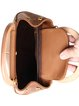 Brown Magnetic Cowhide Leather Shoulder Bag