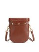 Brown Cowhide Leather Magnetic Crossbody