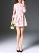 3/4 Sleeve Ruched Sweet Mini Dress