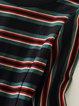 Multicolor Stripes Casual A-line Crew Neck Midi Dress