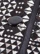 Black Geometric Vintage Lace Printed Coat