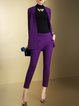 Purple Formal Two Piece Jumpsuit