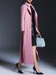 Polyester Long Sleeve Elegant A-line Plain Coat