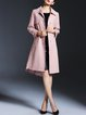 Elegant Shirt Collar Buttoned Coat