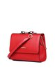 Red Zipper Casual Cowhide Leather Crossbody