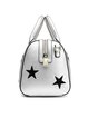 Silver Casual Small Embroideried Cowhide Leather Satchel