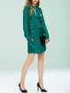 Aqua Long Sleeve Paneled Mini Dress
