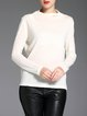 Plain Wool  Casual Long Sleeved Top