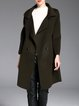 Army Green Plain H-line Simple Coat