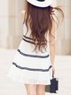 Sweet Sleeveless Embroidered Mini Dress