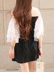 H-line Sweet Frill Sleeve Mini Dress
