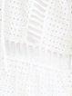White Cutout Cotton Two Piece Half Sleeve Mini Dress