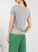 Silk Beaded Short Sleeve T-Shirt