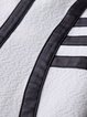 Stripes Crew Neck 3/4 Sleeve Casual Mini Dress