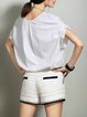 Plain Casual Knitted Batwing T-Shirt