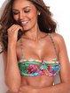 Multicolor Floral Straped Bikini