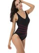 Black Straped Wireless One-Piece