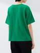 Green Plain Shift Half Sleeve T-Shirt