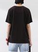 Black Polka Dots Cotton Casual T-Shirt