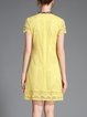 Yellow A-line Girly Mini Dress