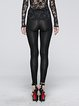 Black Sexy Polyester Embroidered Legging