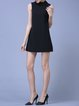 Black A-line Zipper Sleeveless Plain Mini Dress