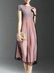 Skater Street Short Sleeve Midi Dress