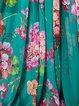 Green Short Sleeve Swing Maxi Dress