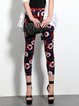 Multicolor Casual Floral-print Cropped Pants