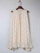 Apricot Sleeveless Embroidered Keyhole A-line Mini Dress