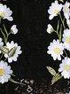 Black Embroidered H-line Sweet Mini Dress