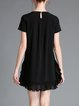 Black Shift Girly Mini Dress