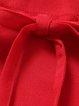 Red Sleeveless Bow Resort Maxi Dress