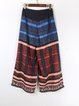 Multicolor Boho Tribal Wide Leg Pants