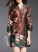 Multicolor Vintage Embossed Mini Dress