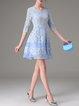 Blue Girly Pierced Mini Dress