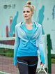 Blue Ombre Breathable Wicking Nylon Hoodie (Sportswear for Outdoor)