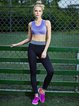 Black Breathable Nylon Leggings Bottom (Sportswear for Outdoor)