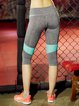 Light Blue Natural Leggings Stretchy Bottom (Sportswear for Yoga)