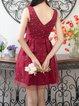 Crew Neck Girly Sleeveless Mini Dress