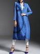 Blue Plain Pockets Elegant Coat